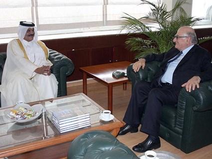 Lebanese Information Minister Meets HE Qatari Ambassador