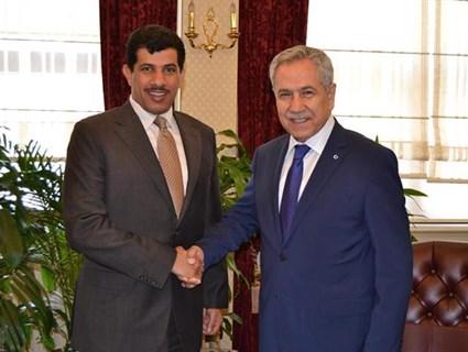 نائب رئيس الوزراء التركي يستقبل سفيرنا