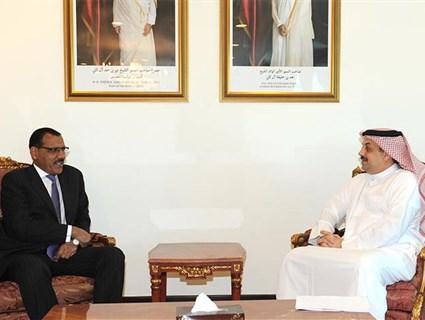 سعادة وزير الخارجية يستقبل وزير خارجية النيجر