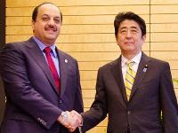 Japanese Prime Minister Shinzo Abe Meets HE Qatar's Foreign Minister