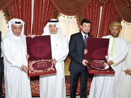 HE Qatar's Ambassador to Oman Hosts A Farewell Ceremony to Outgoing Saudi & Palestinian Ambassadors