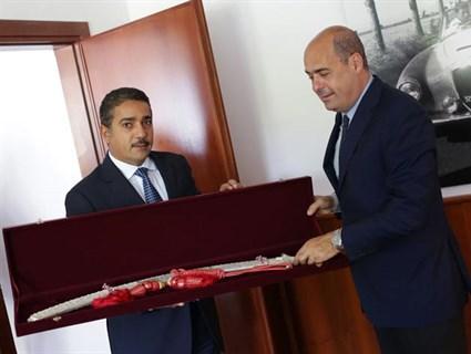 Italian Lazio Region President Meets Qatar's Ambassador