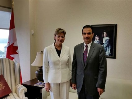 Canadian Minister of State Meets Qatar's Ambassador