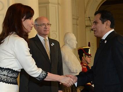 Argentine President Meets Qatari Ambassador