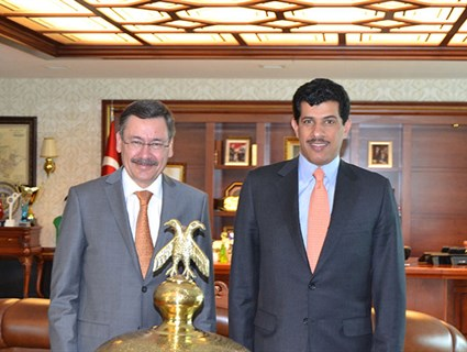 Ankara Mayor, Qatar Ambassador Review Ties
