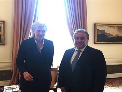 Princess of Belgium Meets Qatar's Ambassador