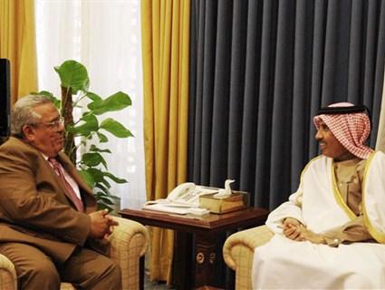 Jordanian Senate President Meets Qatar's Ambassador