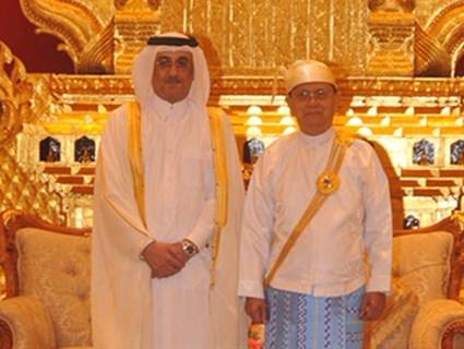 President of Union of Myanmar Recieves Qatari Ambassador Credentials