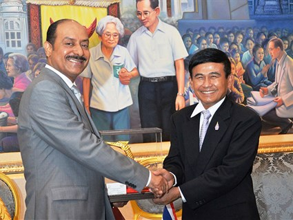 Thailand's Minister of Justice Meets Qatar's Ambassador