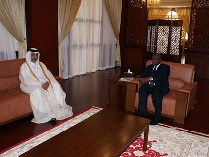 Sudanese Vice President Receives Qatari Ambassador