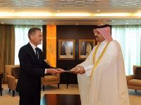 Foreign Minister Receives Copy of Credentials of German Ambassador