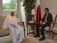 Qatar's U.N. Rep in Geneva Meets Sudanese Official