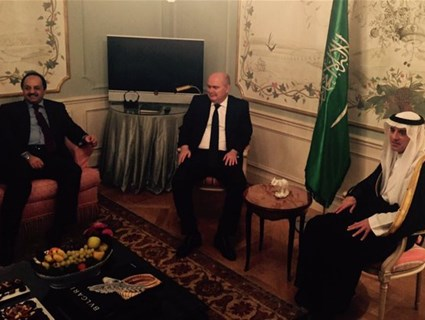 جلسة مباحثات بين سعادة وزير الخارجية ونظيريه السعودي والتركي