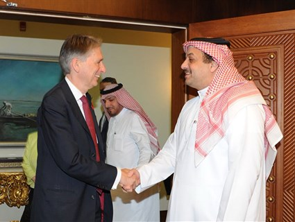 HE Foreign Minister Holds Talks with British Counterpart