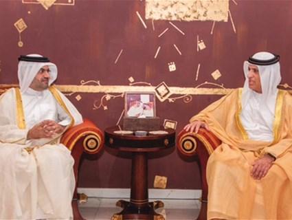 حاكم رأس الخيمة يستقبل سفير قطر لدى الإمارات العربية المتحدة