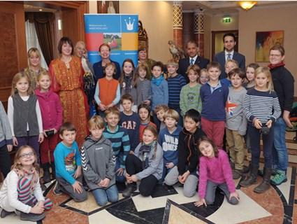 سفارة قطر في برلين تستقبل 30 طفلا ألمانياً
