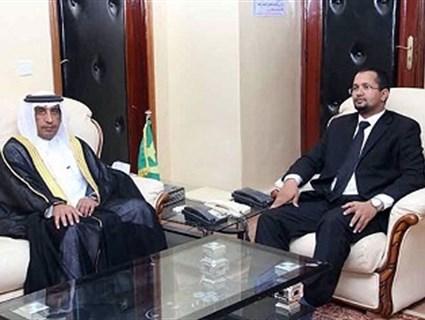 وزير الشؤون الإسلامية الموريتاني يستقبل سفير قطر