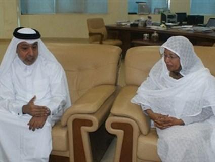 وزيرة التعليم العالي السودانية تستقبل سفير قطر