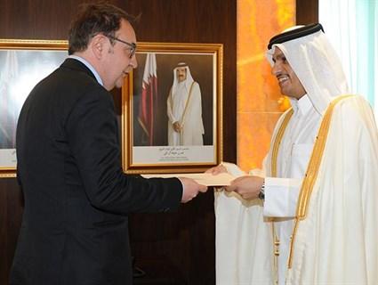 HE FM Receives Copy of Serbian Ambassador's Credentials