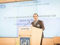 Foreign Minister: Human Rights Promotion and Protection Strategic Choice for Qatar