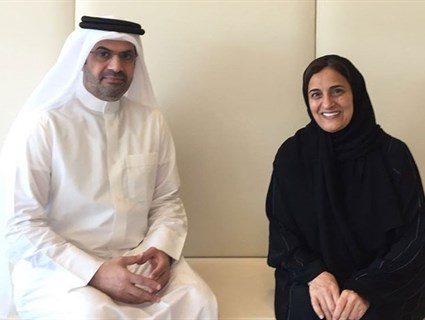 UAE Minister of State for Tolerance Meets Qatar's Ambassador