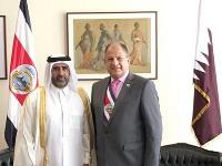 President of Costa Rica Receives Credentials of Qatari Ambassador
