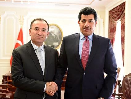 Turkish Minister of Justice Meets Qatari Ambassador