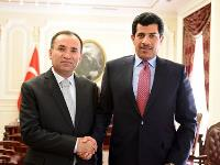 Turkish Minister of Justice Meets Qatari Ambassador