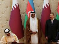 HH the Emir Meets Azerbaijan PM