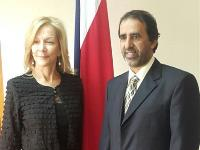 Costa Rica's Minister of Justice and Peace Meets Qatar's Ambassador