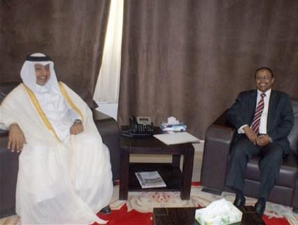 وكيل وزارة الخارجية السوداني يلتقي سفير دولة قطر