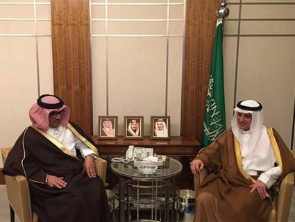 وزير الخارجية السعودي يستقبل سفير قطر