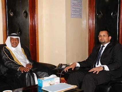 وزير الشؤون الإسلامية الموريتاني يستقبل سفير دولة قطر