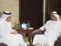 Abu Dhabi Crown Prince Meets Qatar's Foreign Minister