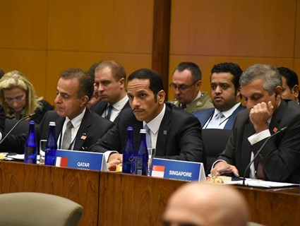 HE Foreign Minister Participates in Meeting of Global Coalition to Counter Terrorism