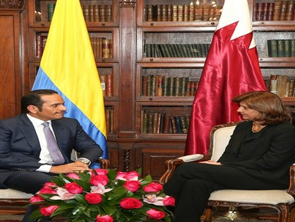 HE Foreign Minister Meets Colombia's Foreign Minister