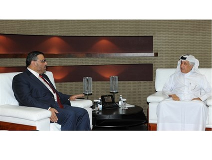 Minister of State for Foreign Affairs Meets President of Syrian National Coalition