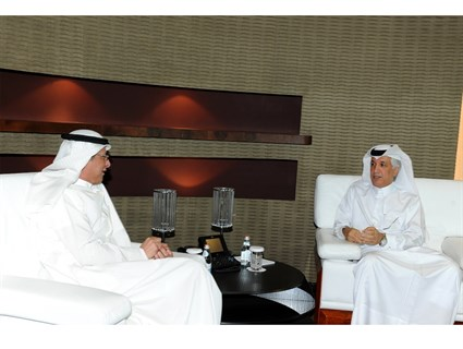 Minister of State for Foreign Affairs Meets Kuwait's Outgoing Ambassador