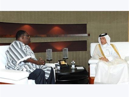 Minister of State for Foreign Affairs Receives Copy of Credentials of Burkina Faso's Ambassador