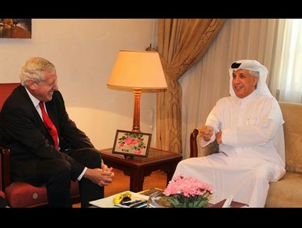 Minister of State for Foreign Affairs Meets France's Envoy for Middle East Peace