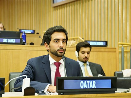 Qatar Urges Effective Cooperation and Global Partnership to Create Environment Favorable for Development