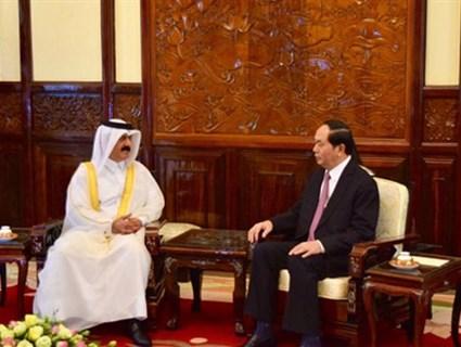 Vietnamese President Receives Credentials of Qatari Ambassador