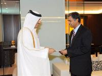 Foreign Minister Receives Copy of Indian Ambassador's Credentials